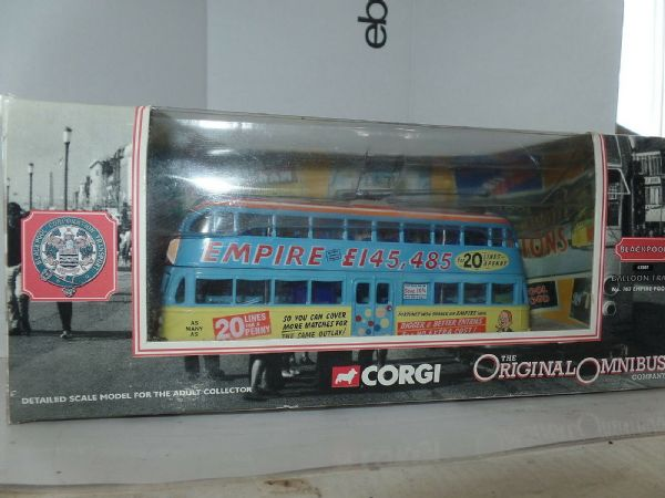 Corgi 43507 Balloon Tram 707 Blackpool Allover Empire Pools Pleasure Beach MIMB